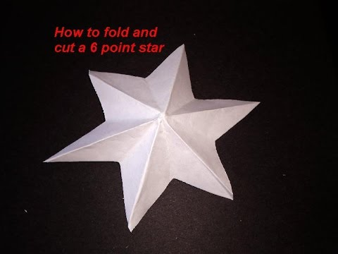 DIY HOW TO FOLD AND CUT A 6 POINT STAR - make a dimensional star - ornament - PAPER CRAFTS