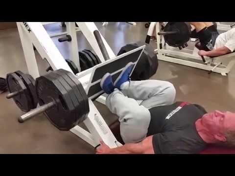 Leg press technique for quad sweep