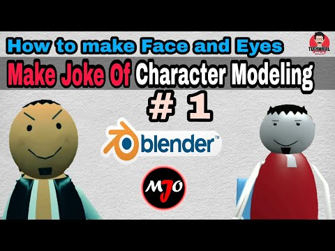 Make Joke Of Character Modeling #1 || How to make face and eyes in Blender 3D Animation Software.