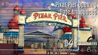 Pixar Pier Opening Date & Pirates Refurbishment - D4E-Ticket News