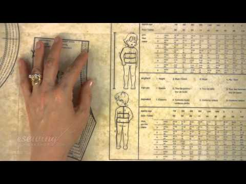 How to Read the Measurement Chart on the Pattern Sheet Kids (FREE SAMPLE)