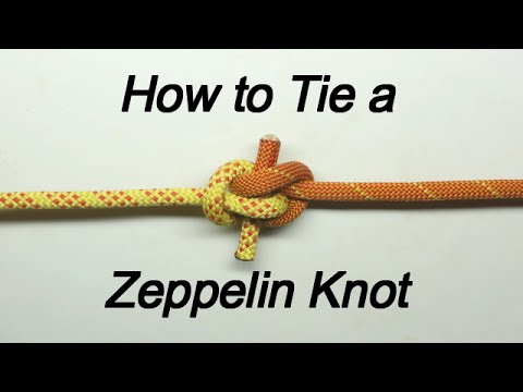 How to Tie a Zeppelin Knot In Just minute