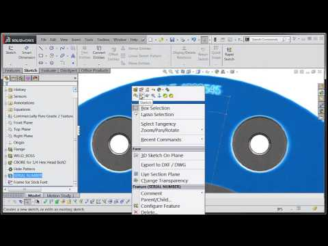 SolidWorks 2014 Tutorial: Using Stick Fonts for Engraving