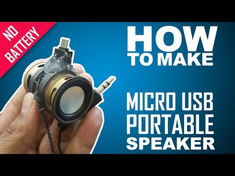 How Make microusb OTG powered 3.5mm portable speakers - easy way