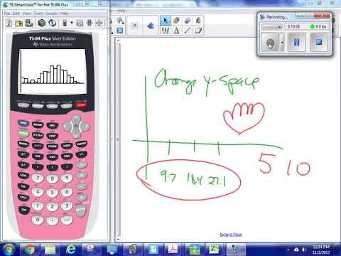 How to make a histogram on your TI84 calculator