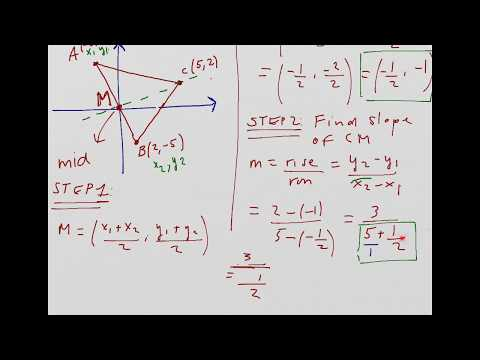 Finding the median of a triangle (part 1)
