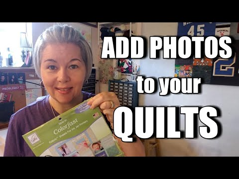 Add Photos in Your Quilts Using June Tailor Colorfast Fabric Sheets & Bee Quilt Update!