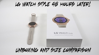 LG Watch Style Rose Gold-48 Hour Impressions and Size Comparison