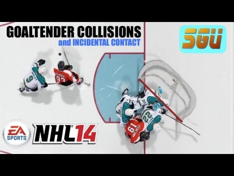 NHL 14: Goaltender Collisions Trailer with Analysis