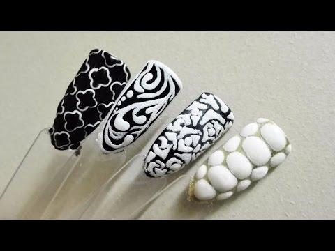 TUTORIAL: How to use paint gel Sugar Effect? 4 nail art ideas! | Indigo | Semilac | Paulie Nails