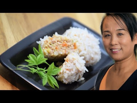 Chinese Glutinous Rice Meatballs (Chinese Style Cooking Recipe)