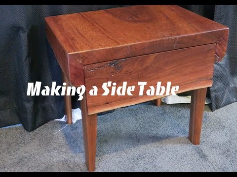 Making a live edge wooden side table