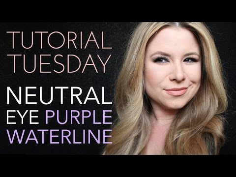 Tutorial Tuesdays - Neutral Eye w/ Purple Waterline