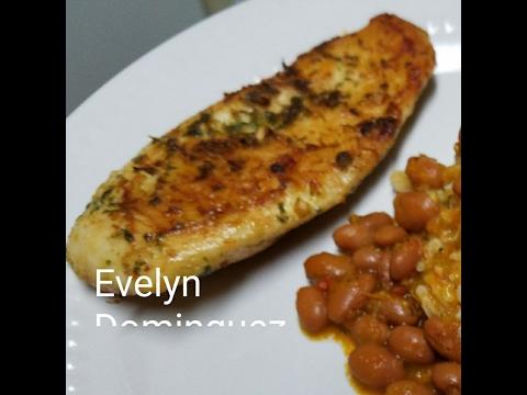 Chicken breast with cilantro and garlic