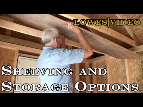 Storage for sheds and garages