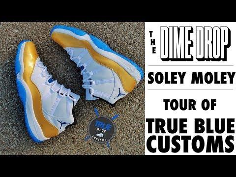 Soley Moley - We Toured True Blue Customs Killer Custom Sneaker Workshop