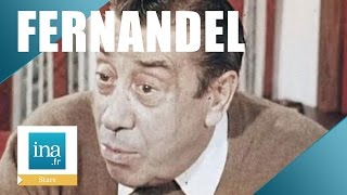 La dernière interview de Fernandel | Archive INA