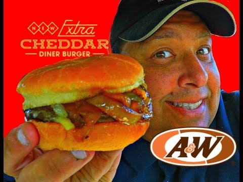 A&W® Extra Cheddar Diner Burger REVIEW!