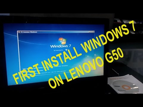 First Installation Windows 7 on G50-30 Laptop