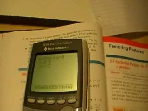 How to Factor Polynomials on the TI-84 or TI-83