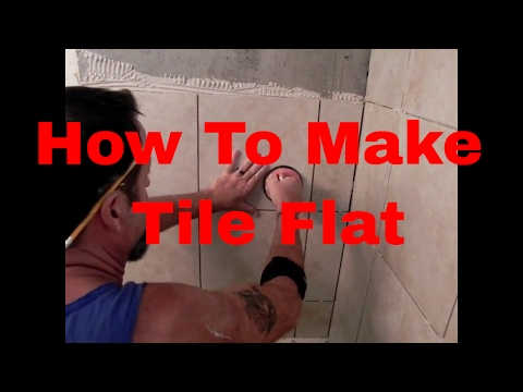 How To Make Tile Flat Using Suction Cup, Tile Pointer and Hand #daveblake License Tile Contractor