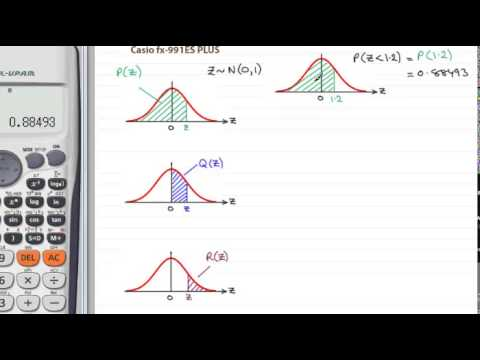 Using a Casio fx-991ES Plus to calculate probabilities for Z~N(0,1) : ExamSolutions Maths Revision