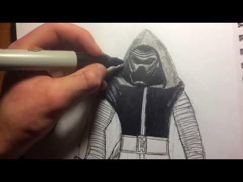 Drawing Kylo Ren