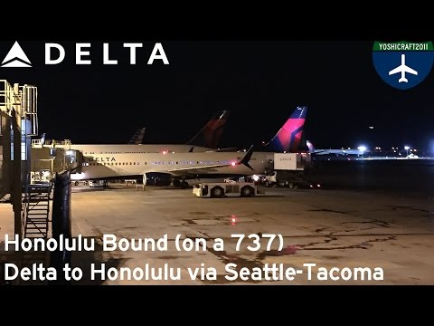 Honolulu Bound (on a 737) - Delta to Honolulu via Seattle-Tacoma (LAS-SEA-HNL)
