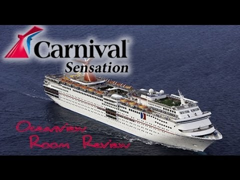Carnival Sensation Oceanview Room Aft View (Review)