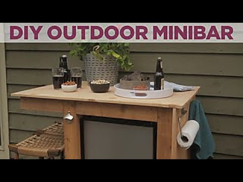 How To Build an Outdoor Minibar - DIY Network