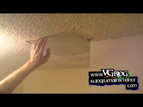Popcorn Ceiling Repairs ~ Patching Holes In The Drywall