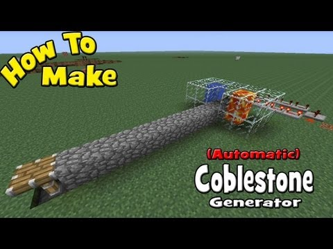 How to Make a (Automatic) Cobblestone Generator (My Design/ Tutorial)