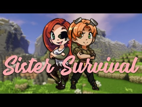 Building Our House! - Sister Survival MCPE #2