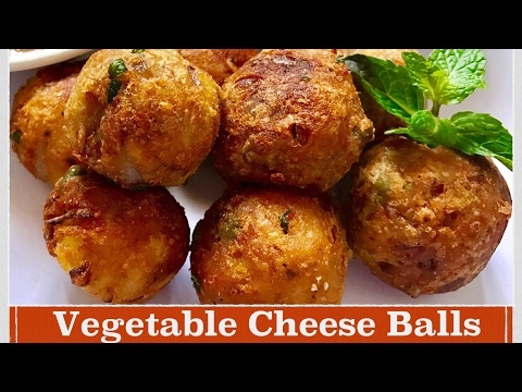 Cheese balls Recipe | How to make easy and simple Vegetable Cheese Balls