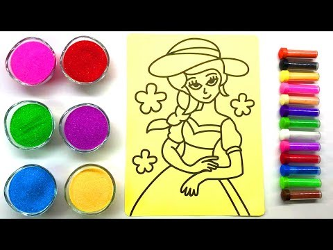 Prenses Sand Painting | 10 Kinds of Colored Sand | Sand Painting art for Kids