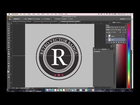 Adobe Photoshop CC Tutorial for Beginners | How to make Badge in PhotoShop