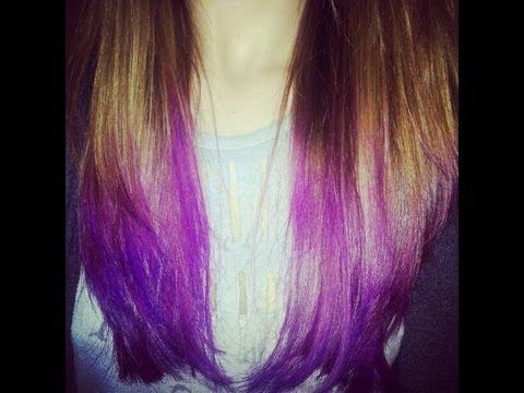 How To Dip Dye Hair | Ombre | Purple Hair Tutorial (Long/Medium Hair)