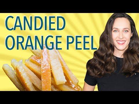 Candied Orange Peel Recipe Demo - How to Make Candied Orange Peel