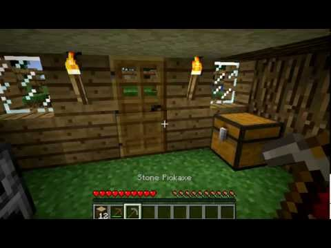 How to make a stone pickaxe - Minecraft Tutorial