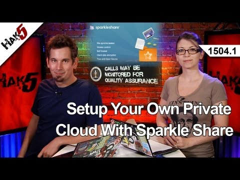 Setup Your Own Private Cloud With Sparkle Share, Hak5 1504.1
