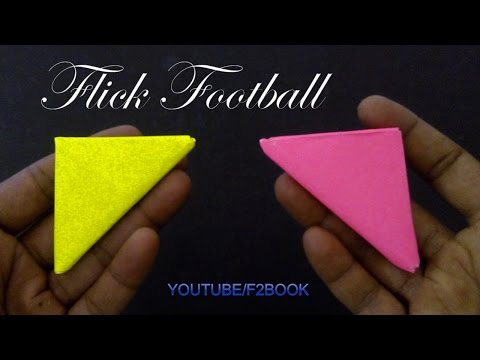 Origami For Kids : How to Make a Paper Flick Football - Finger Game