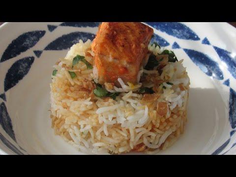 Salmon Biryani | Fish Biryani | Easy Recipe