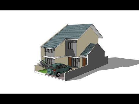 Sketchup make a house  design  ( 2 floors )