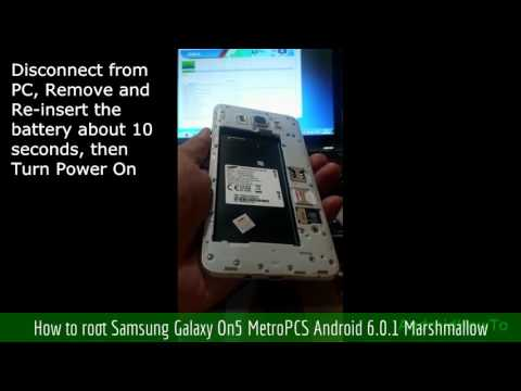 How to root Samsung Galaxy On5 MetroPCS Android 6.0.1 Marshmallow