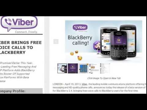 Viber VoIP Free Voice calling over Blackberry