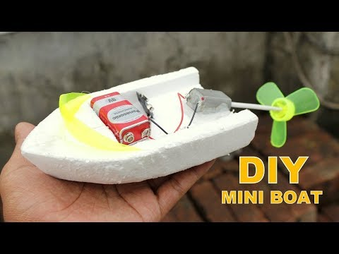 How to Make an Electric Boat at Home - DIY Mini Boat