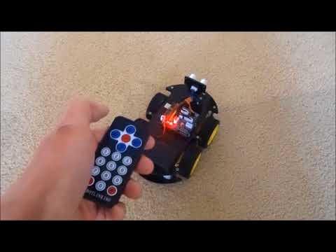 Program Arduino Elegoo V3 Robot Car with Visuino for Infrared Remote Control