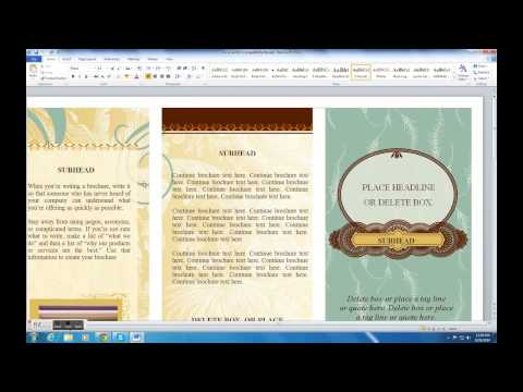 HOW TO MAKE BROCHURE ON MICROSOFT WORD (2010)