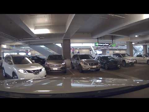Exiting Car Returning to Seattle-Tacoma International Airport Rental Car Facility