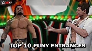 """WWE 2K17 - Top 10 Funniest Entrances """"GIMMICK SWAP"""" Cena, Reigns, Orton & More! (PS4 & XB1)"""